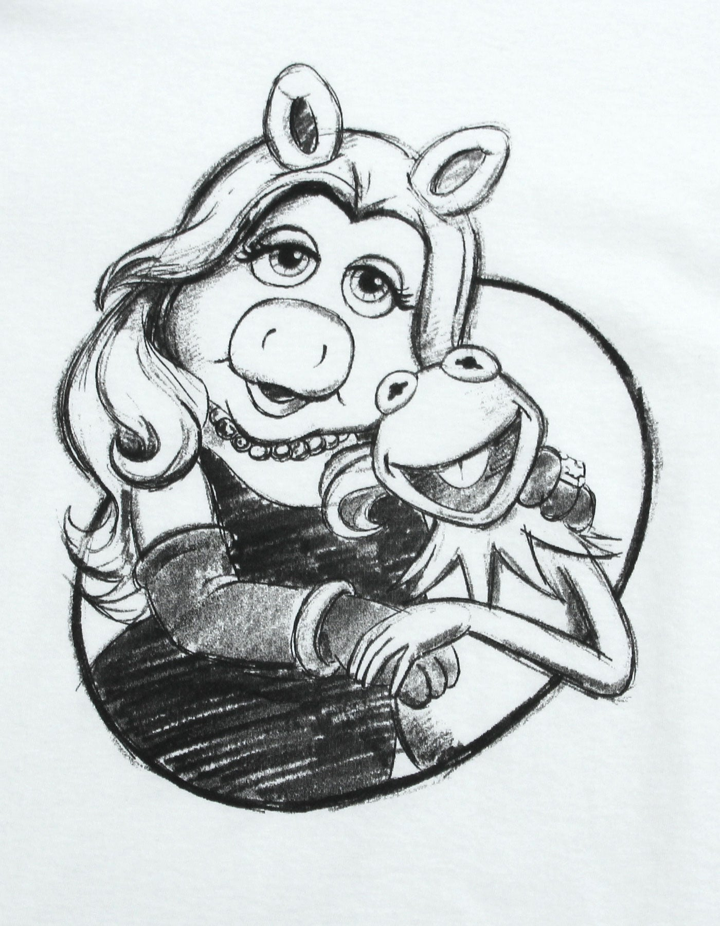 The Muppets x little sunny bite Miss piggy big tee / WHITE