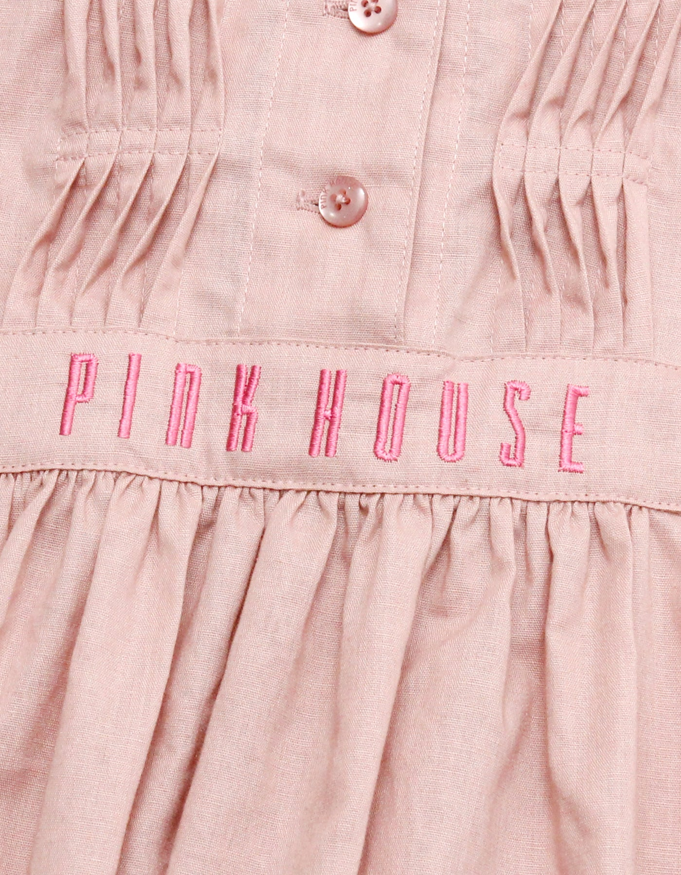 little sunny bite と pink house Puff sleeve tunic / PINK