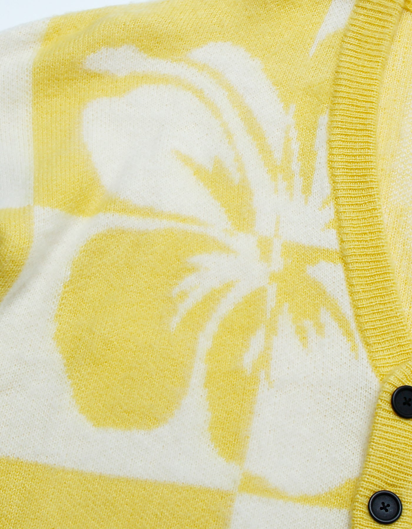 Hibiscus knit cardigan / YELLOW