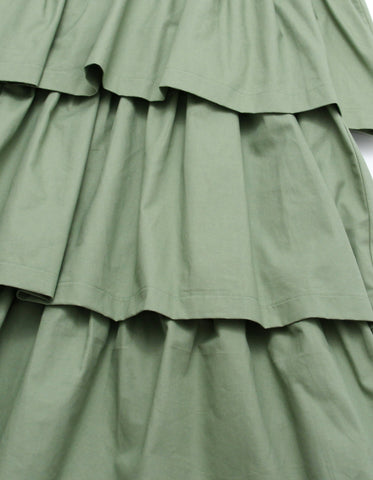 Tiered dress / GREEN