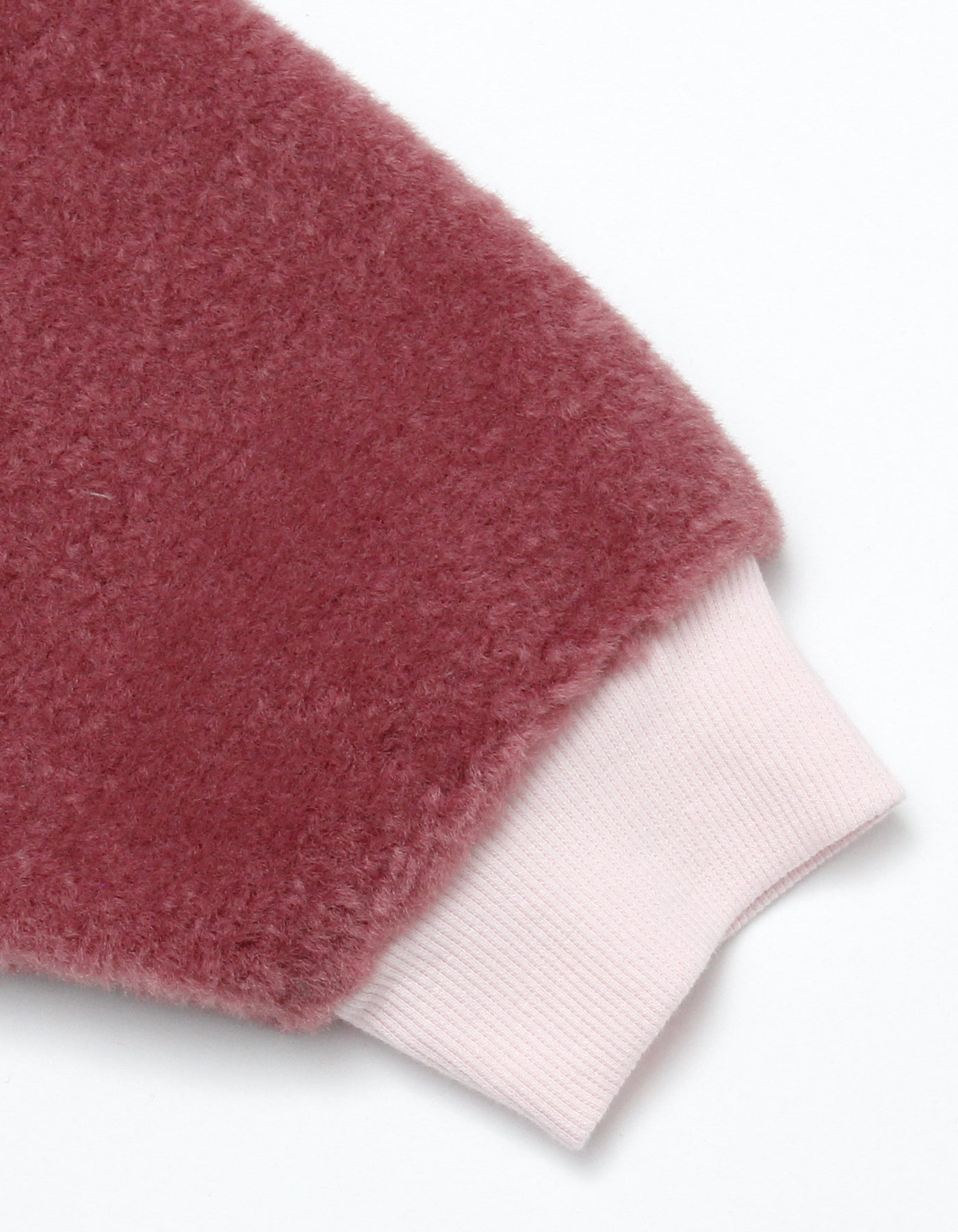 Fur sleeve sweater / PINK