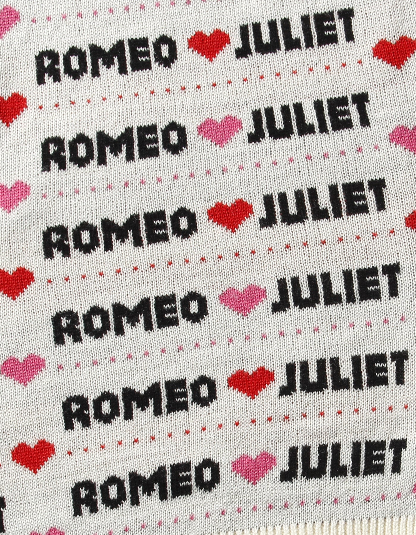Romeo and juliet X LITTLE SUNNY BITE : Big knit top / WHITE