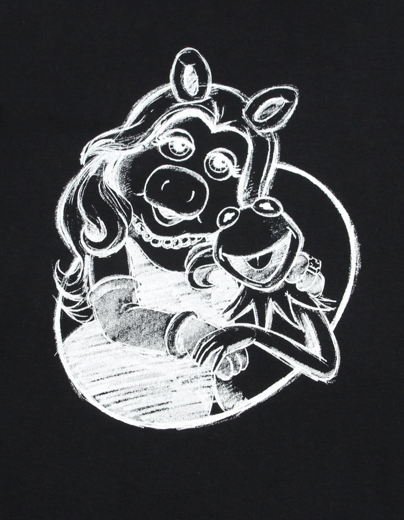 The Muppets x little sunny bite Miss piggy big tee / BLACK