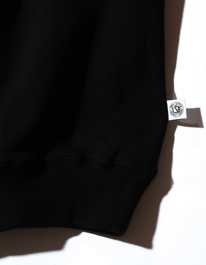 LSB high neck sweat dress / BLACK