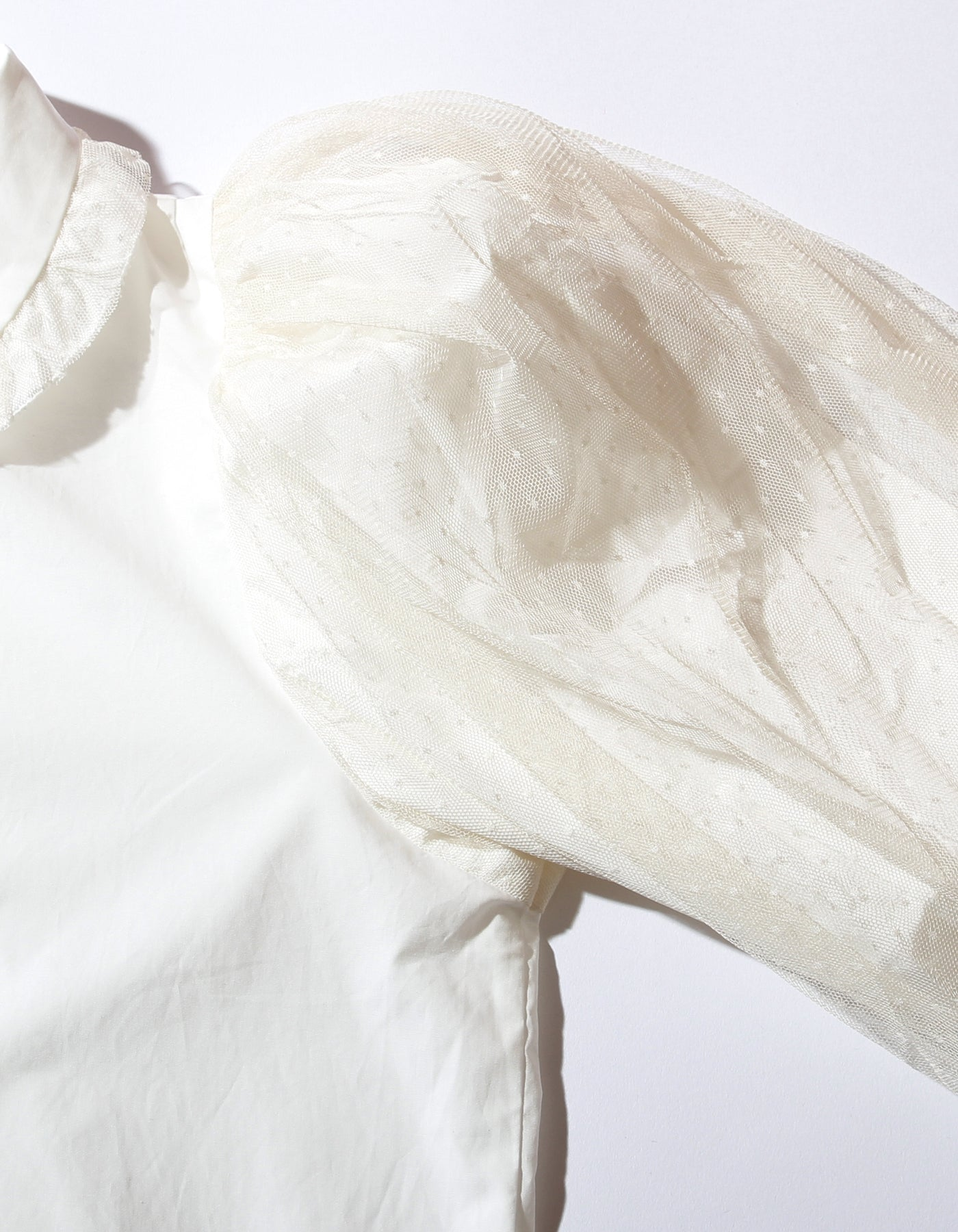 Layered sleeve blouse / WHITE