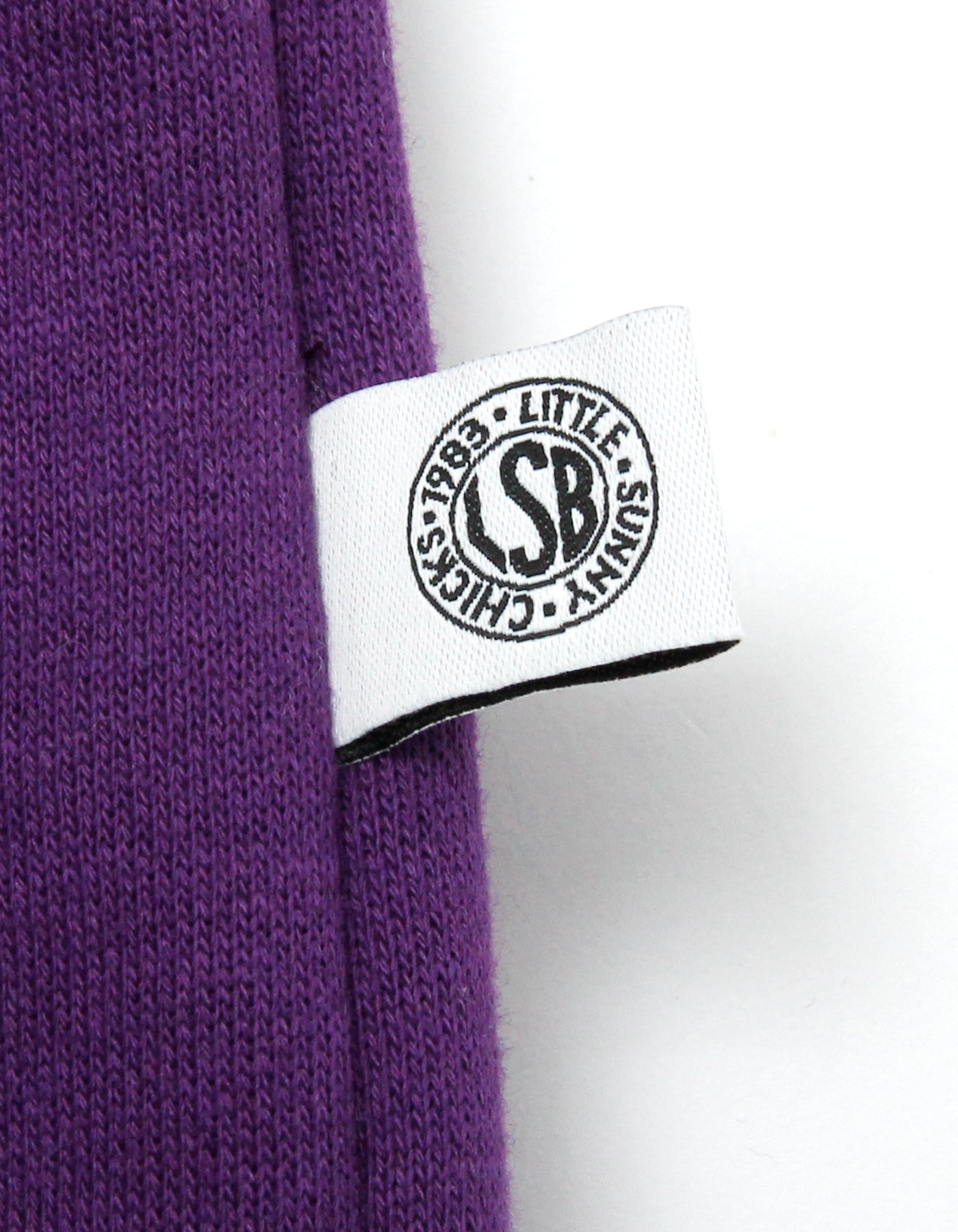 Who cares stitch sweat top / PURPLE