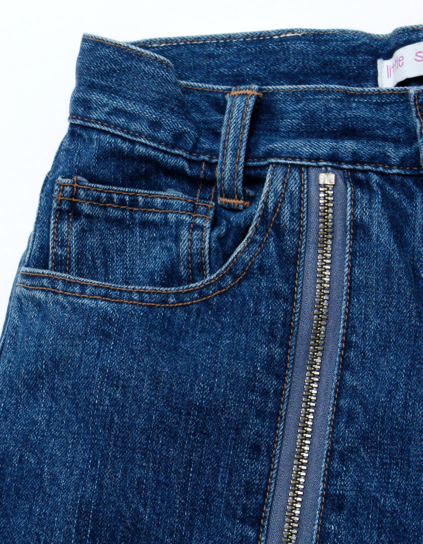 Zipper denim pants / WASH