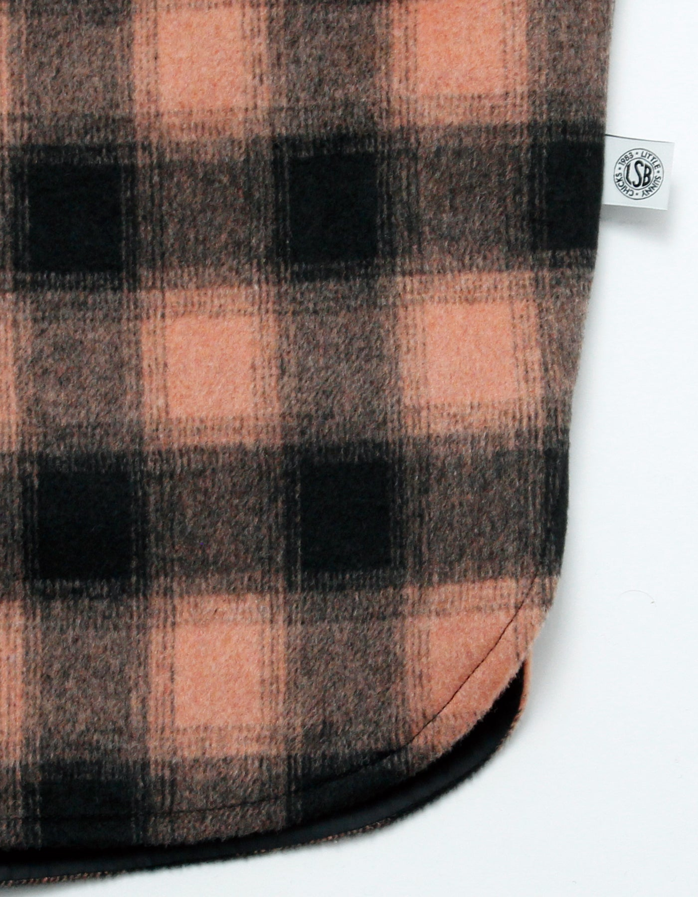 Melton checked jacket / ORANGE