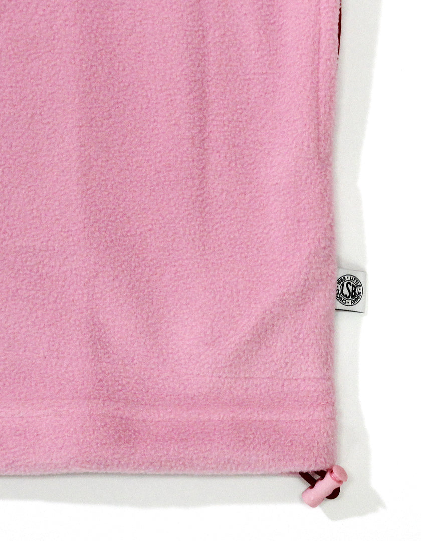 Fleece frill top / PINK