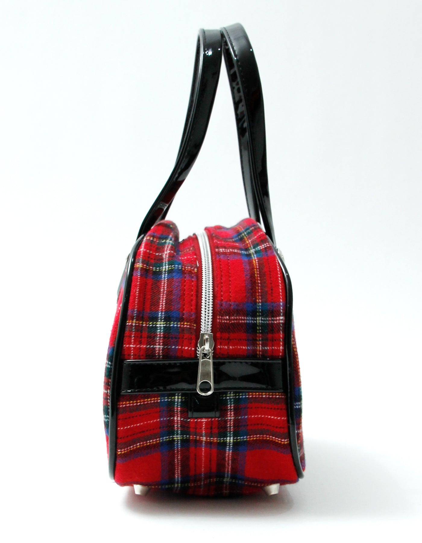 Checked mini bag / RED