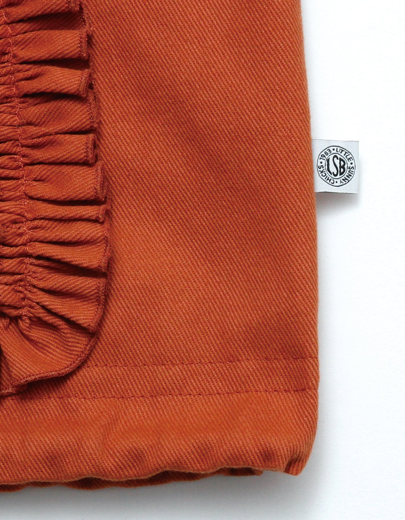 Frill big jacket / ORANGE