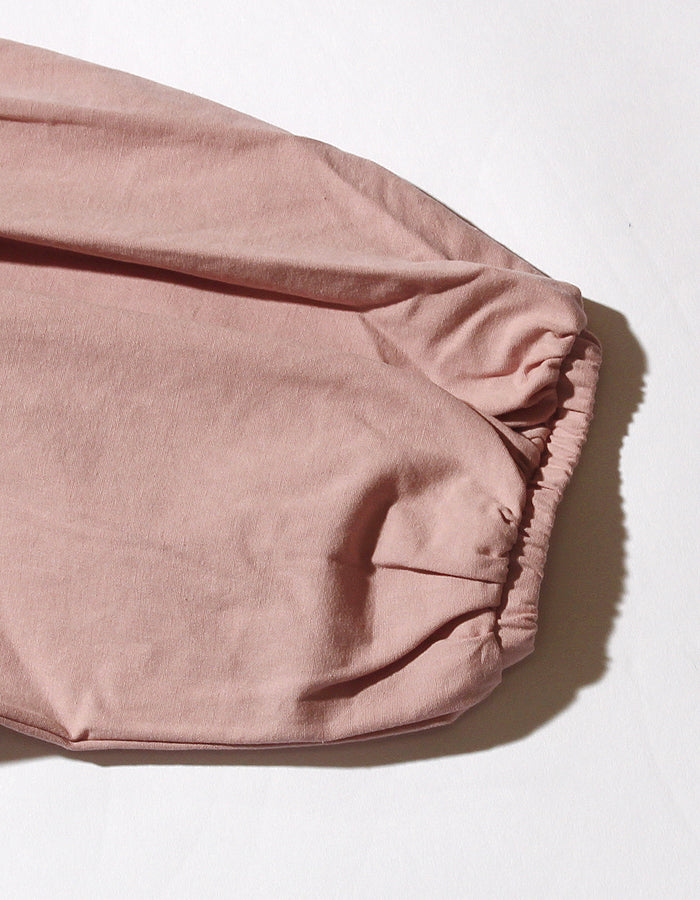 Puff sleeve short blouse / PINK