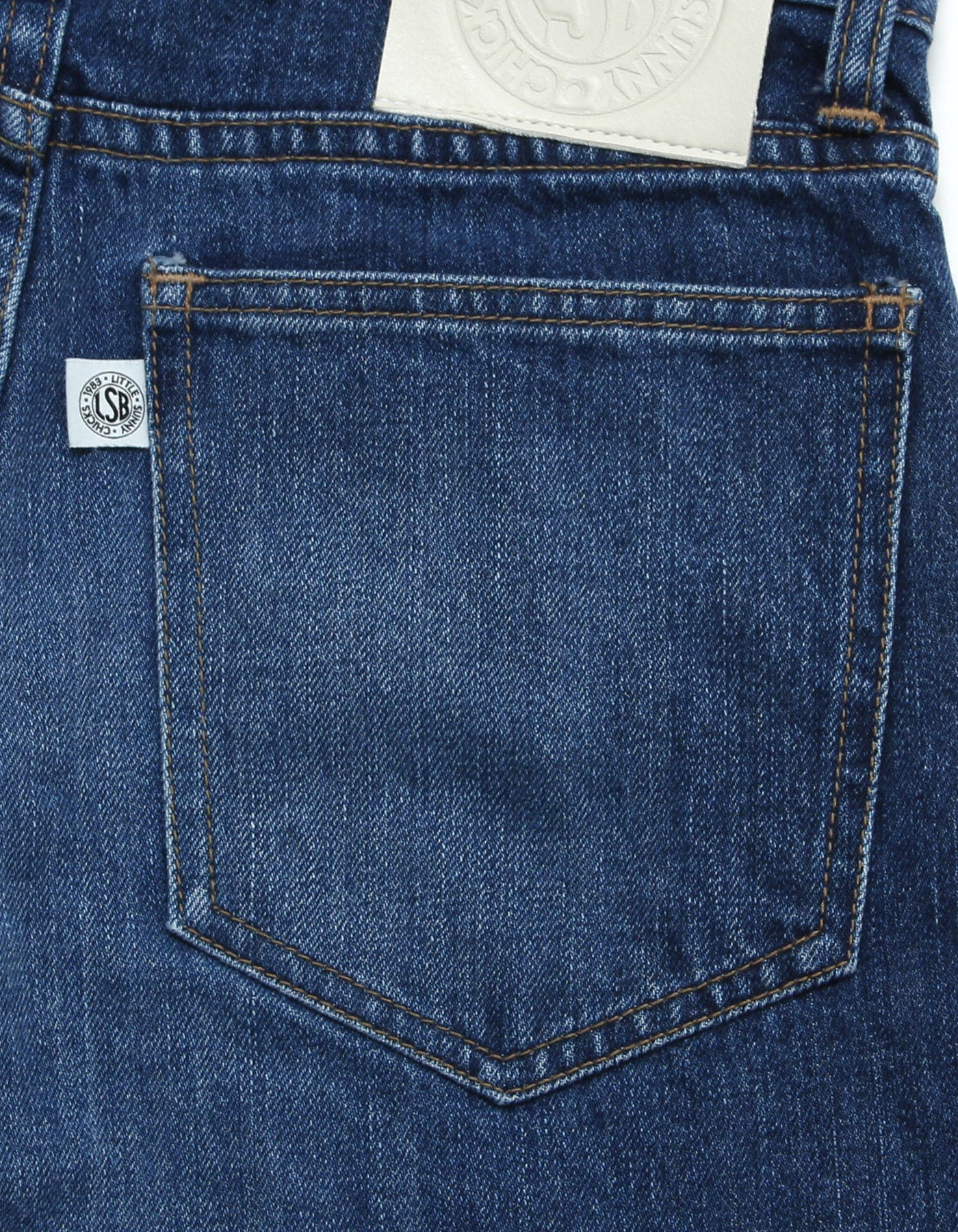 Original colored denim washed pants / INDIGO