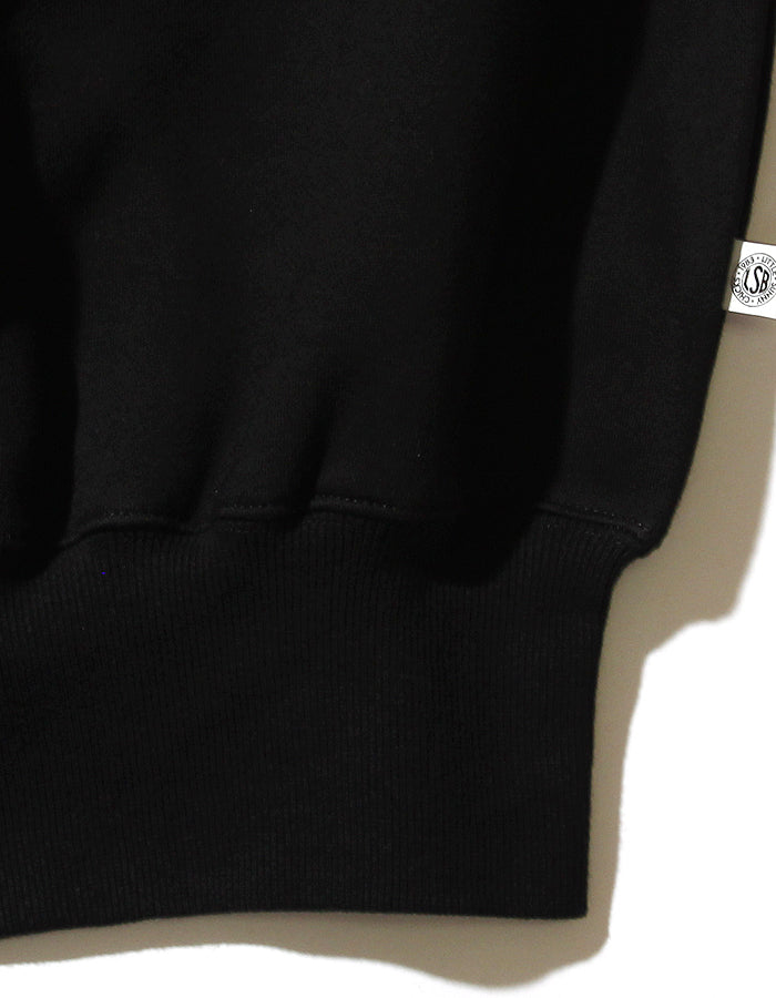 LSB logo big collar sweat top / BLACK