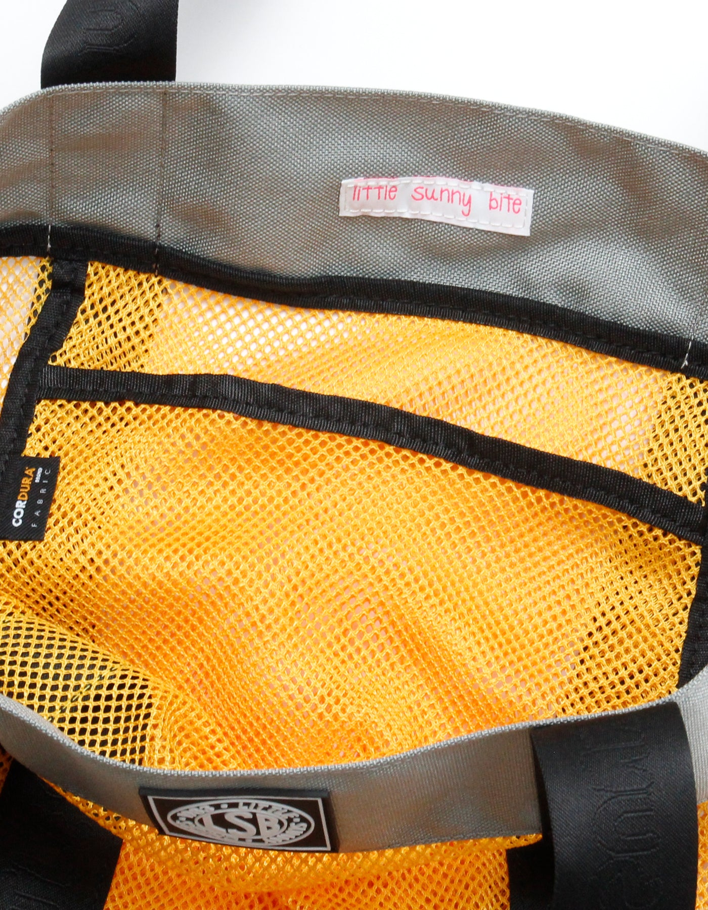 Mesh tote bag / YELLOW