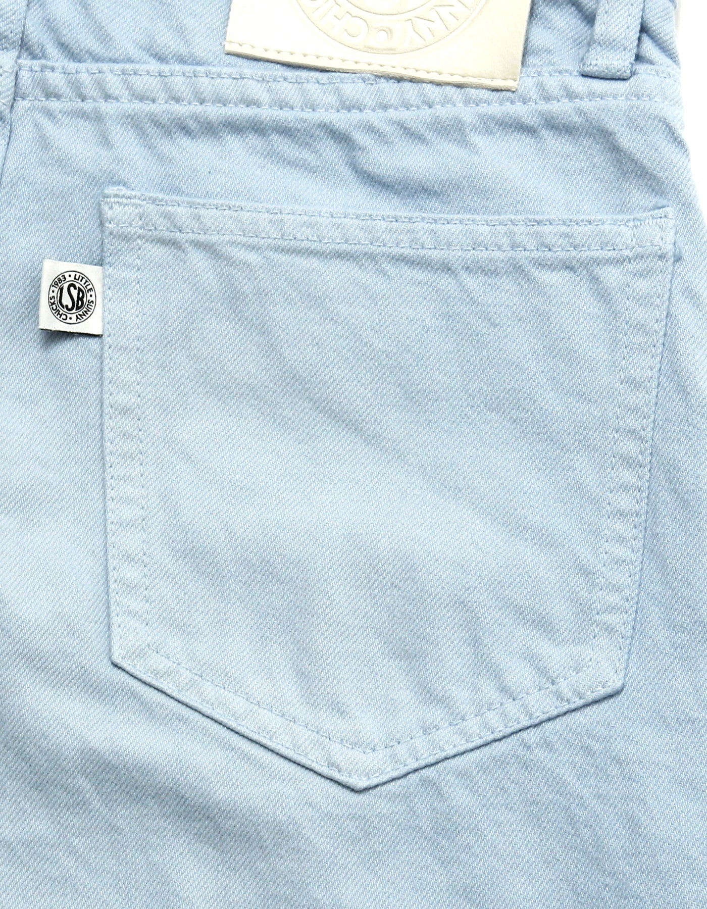Original colored denim washed pants / BLUE