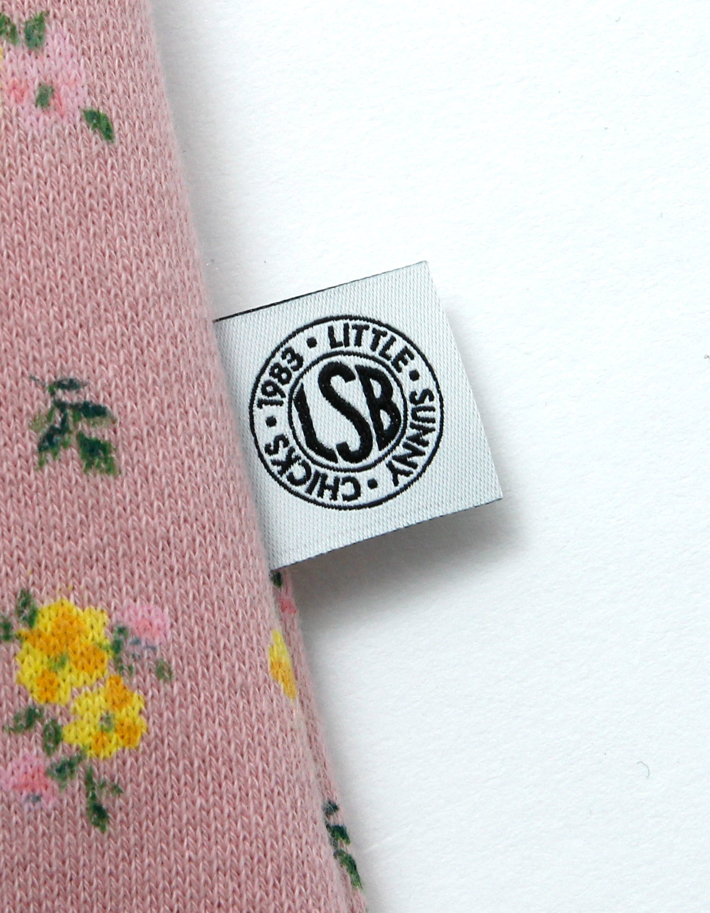 Valerie phillips × little sunny bite Floral print photo sweat top / PINK