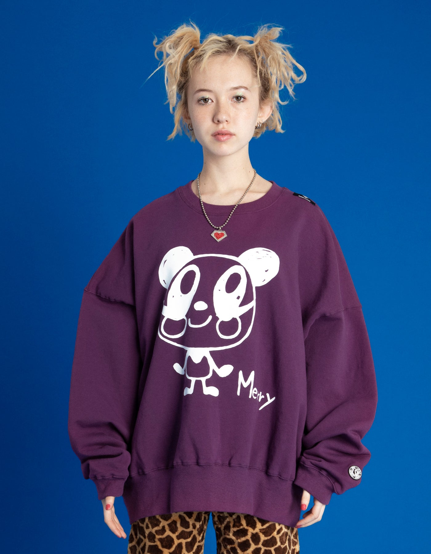 DOODLE MERRY SWEAT TOP / PURPLE