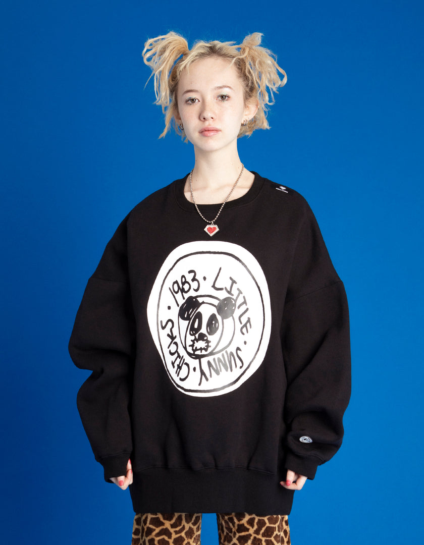 DOODLE KEN SYMBOLIC SWEAT TOP / BLACK