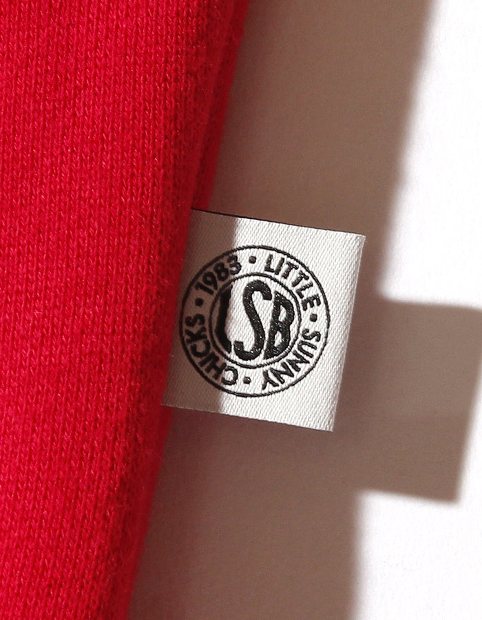 LSB logo big collar sweat top / RED
