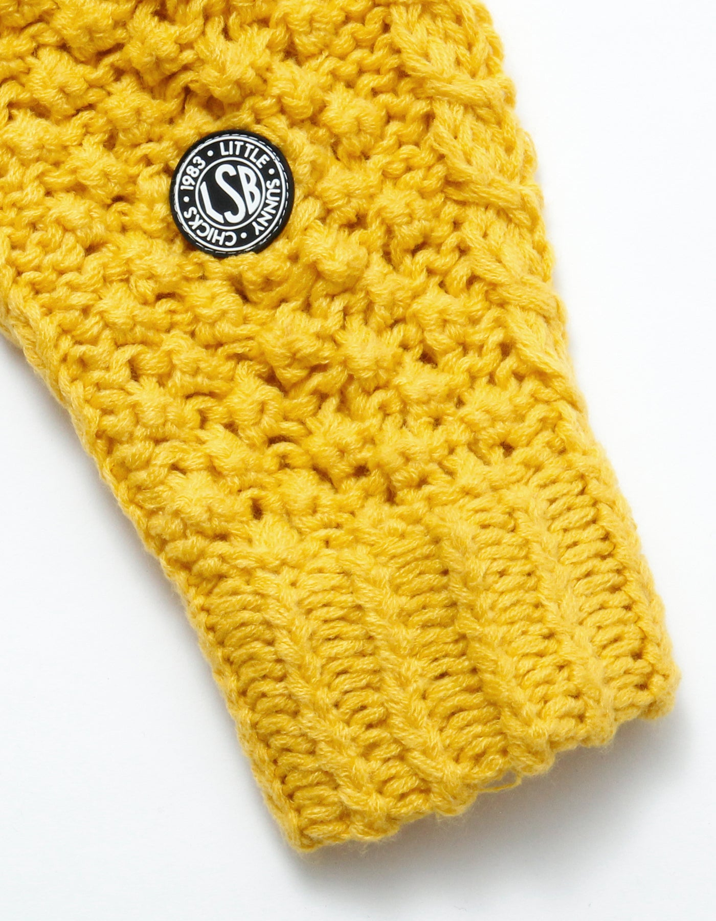 Cable knit / YELLOW