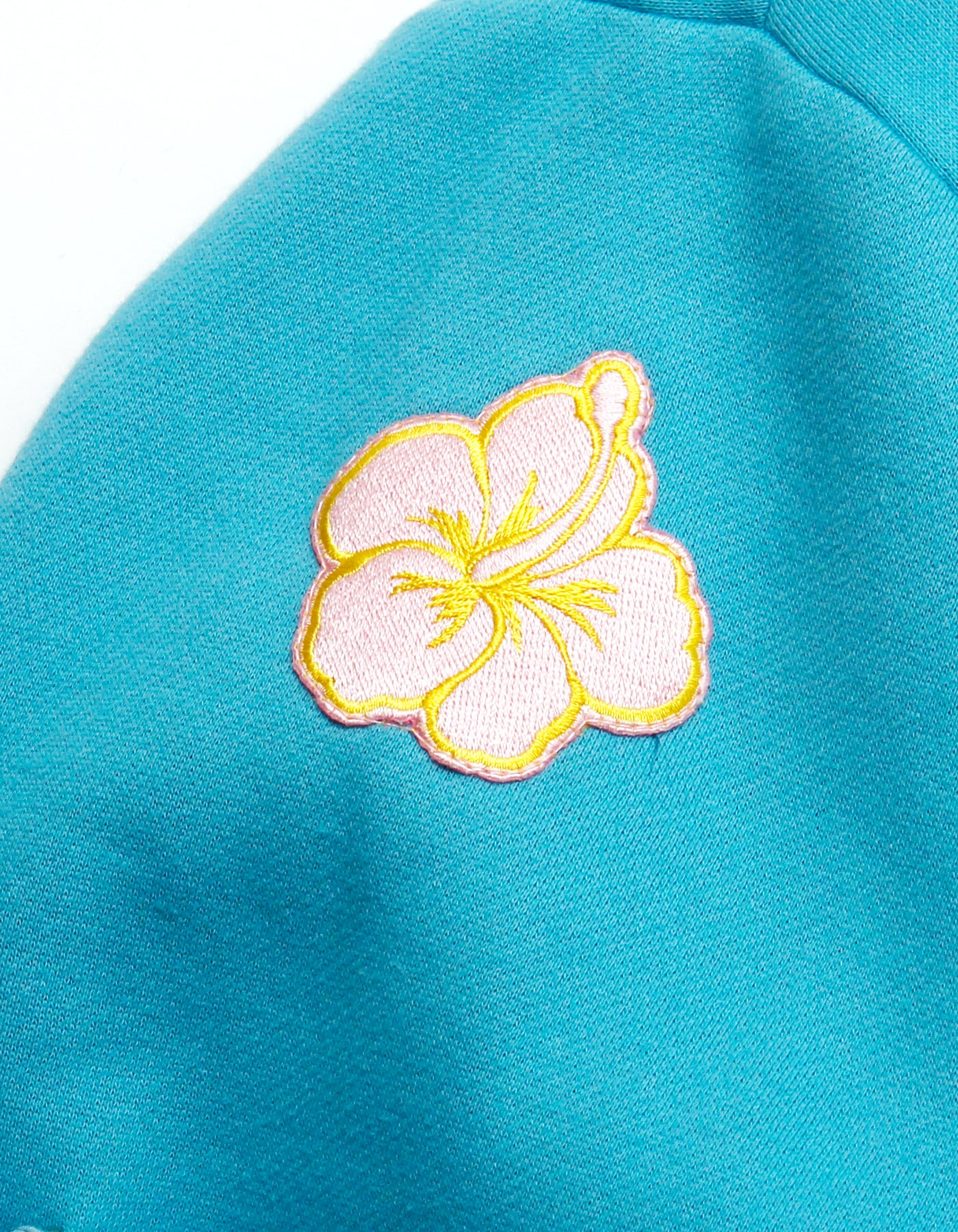 Patches all over sweat jacket / BLUE