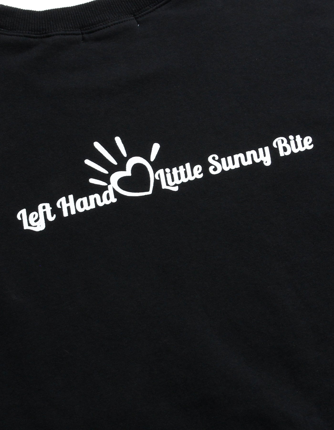 Left Hand X LITTLE SUNNY BITE : graffiti sweat / BLACK