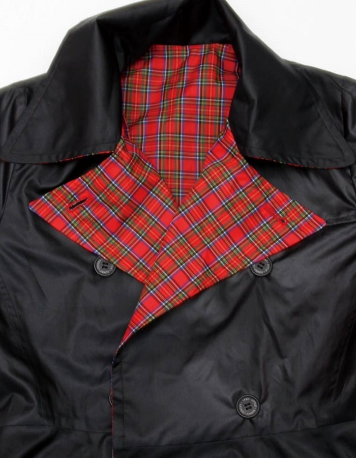 NYLON WAIST SHAPED REVERSIBLE JACKET / RED