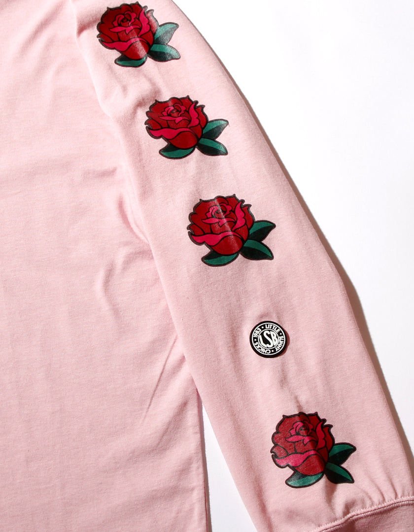 Romeo and juliet X LITTLE SUNNY BITE : Photo long tee rose sleeve / PINK