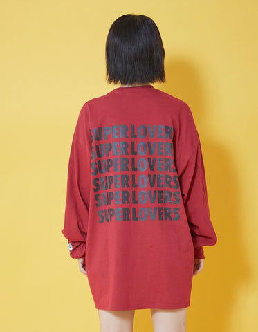 SUPER LOVERS LS TEE / RED