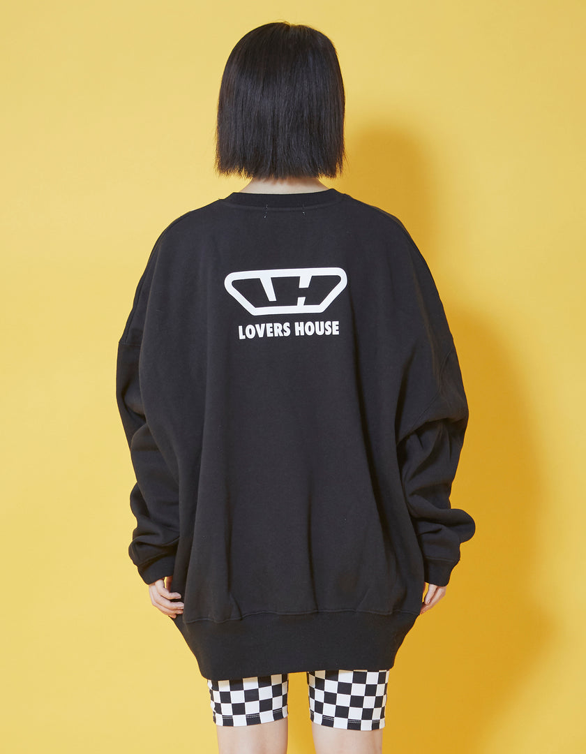 MERRY sweat top / BLACK