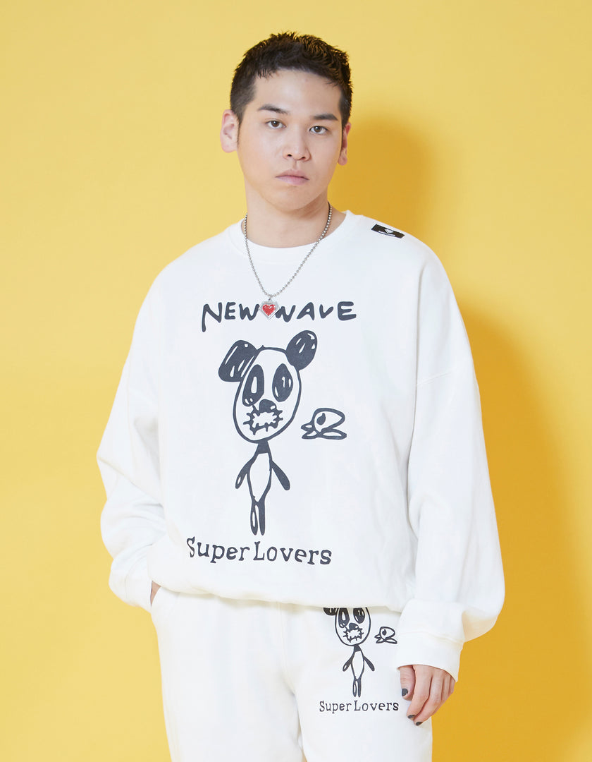 Doodle sweat top / WHITE