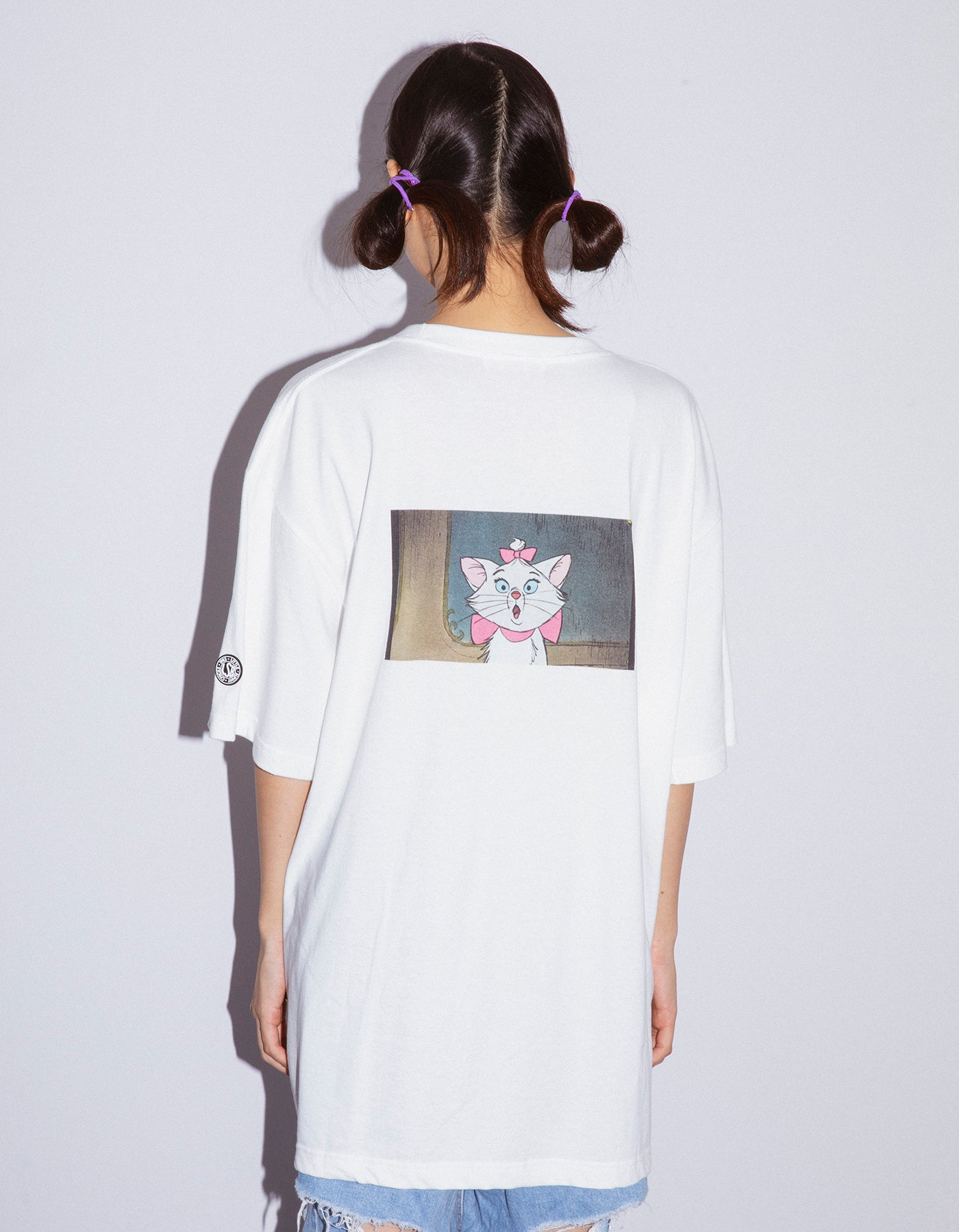 Marie photo big tee / WHITE
