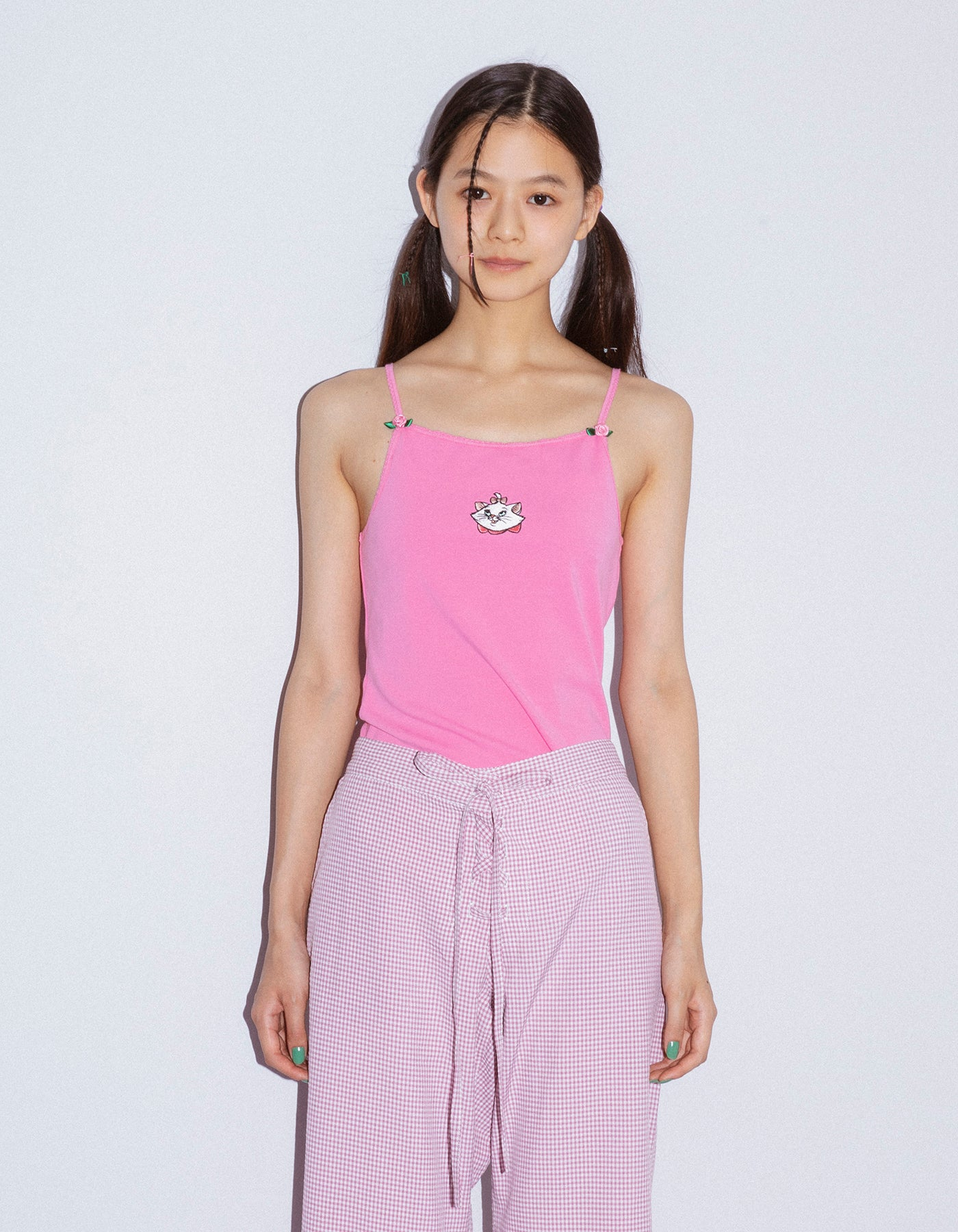 Marie stitched top / PINK