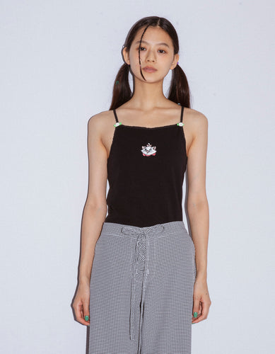 Marie stitched top / BLACK