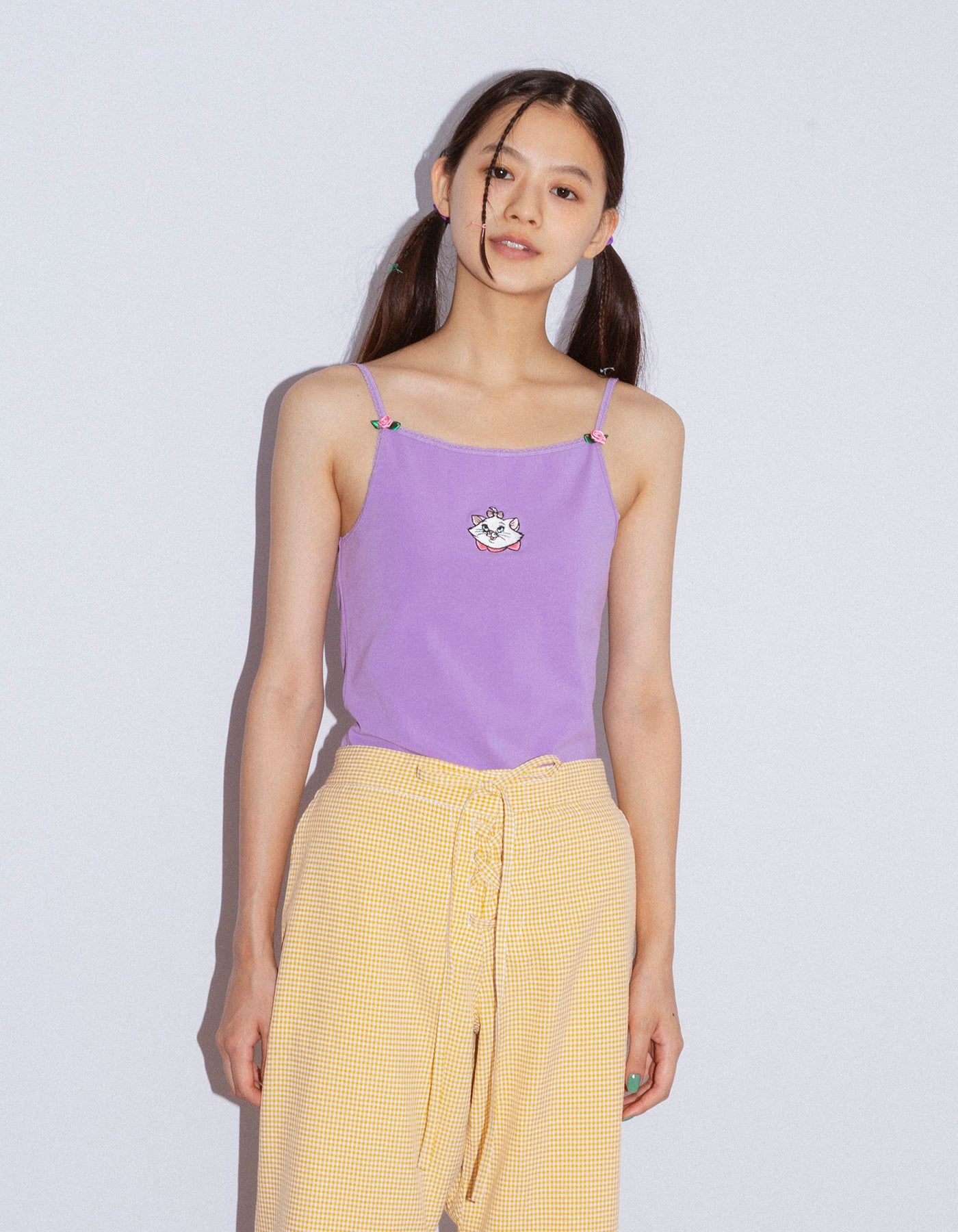 Marie stitched top / PURPLE