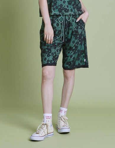 Lacy half pants / GREEN