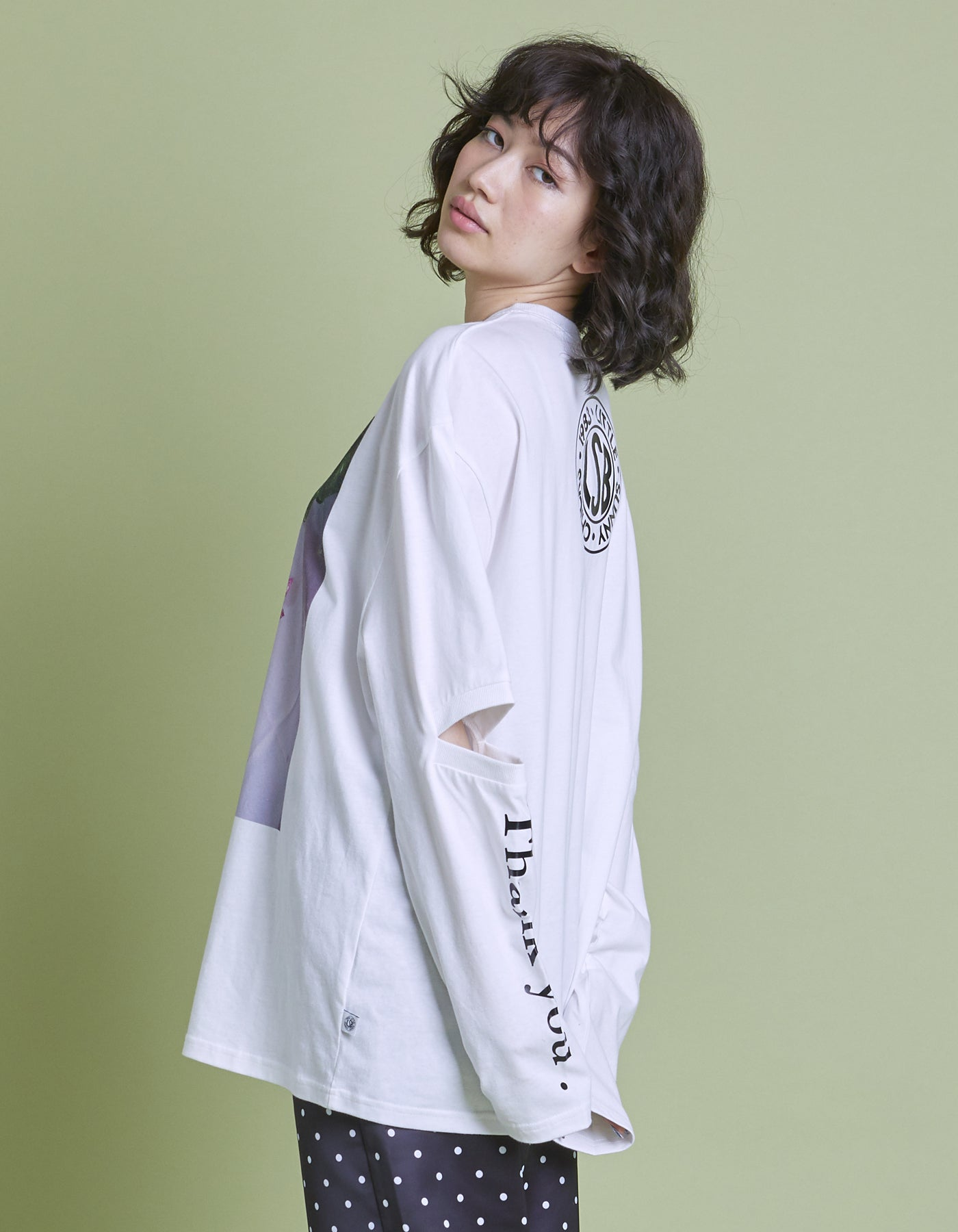 Photo long tee / WHITE