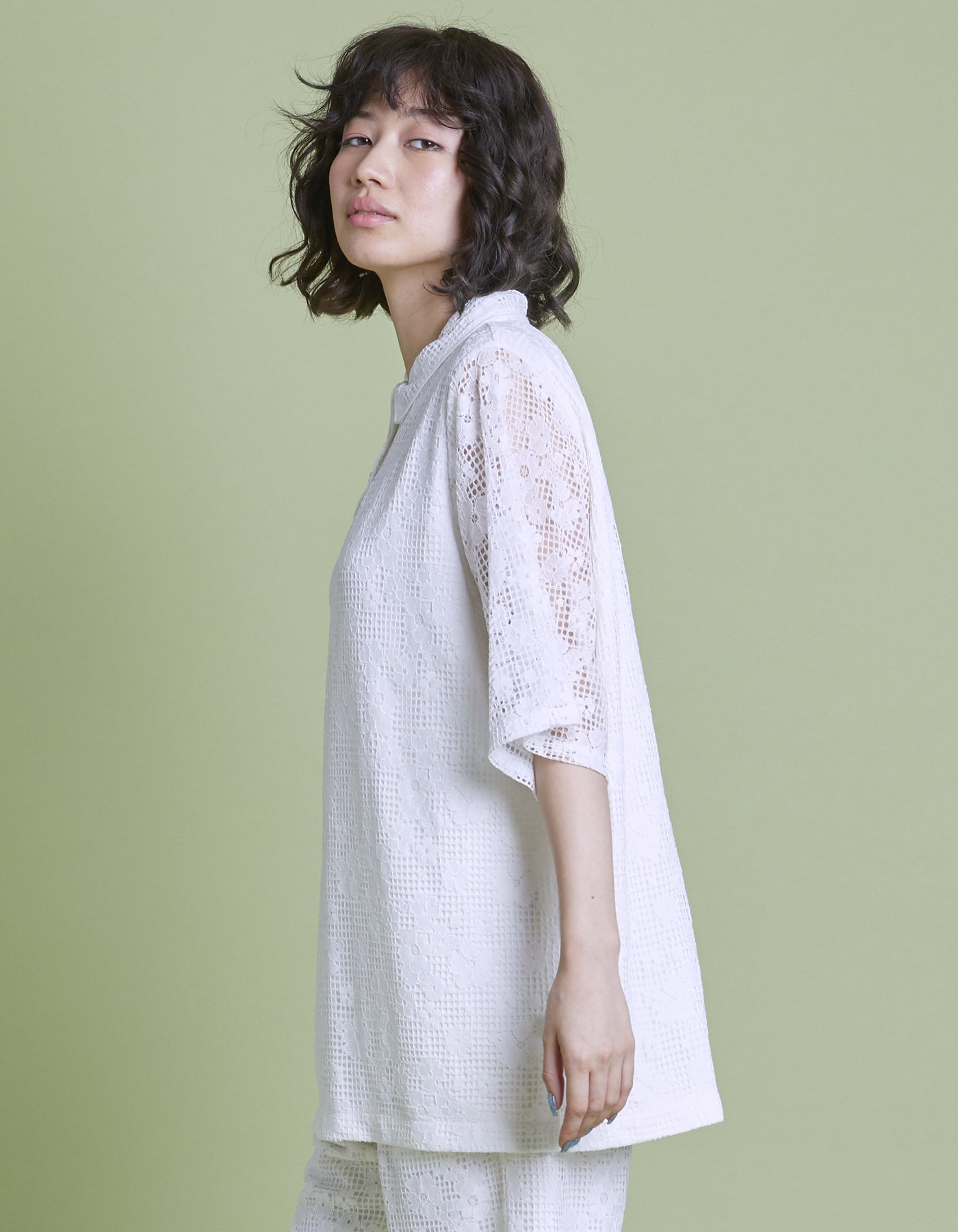 Lacy shirt / WHITE
