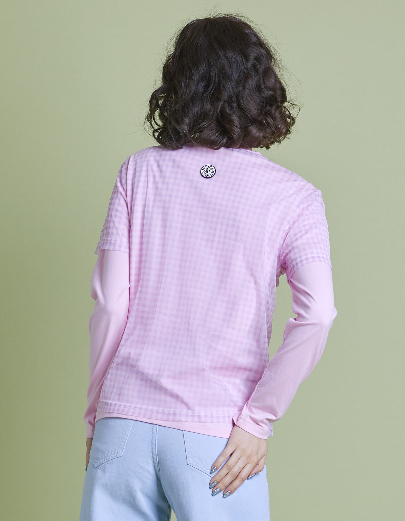 Layered long tee / PINK
