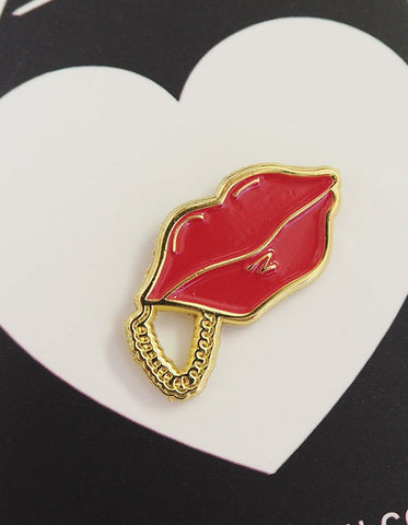 LASER KITTEN : 80'S LIPS PHONE PIN / RED