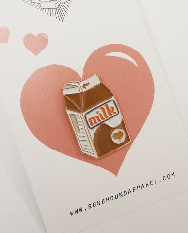 ROSEHOUND APPAREL : CHOCOLATE MILK LAPEL PIN / BROWN