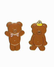 画像をギャラリービューアに読み込む, ROSEHOUND APPAREL : GRAHAM BEAR BEST PALS LAPEL PIN SET / BROWN