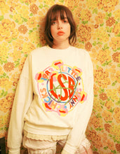 画像をギャラリービューアに読み込む, annukilpelainen x little sunny bite Logo stitched sweat top / WHITE