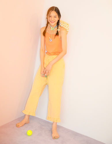 Check pants / YELLOW