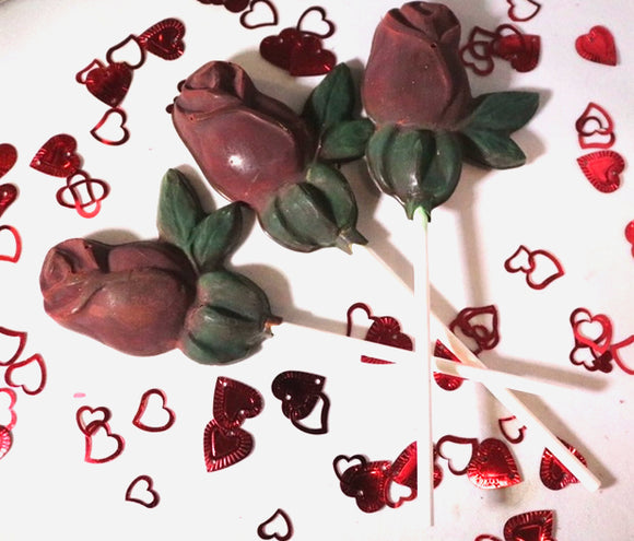 Rose Chocolate Lollipops