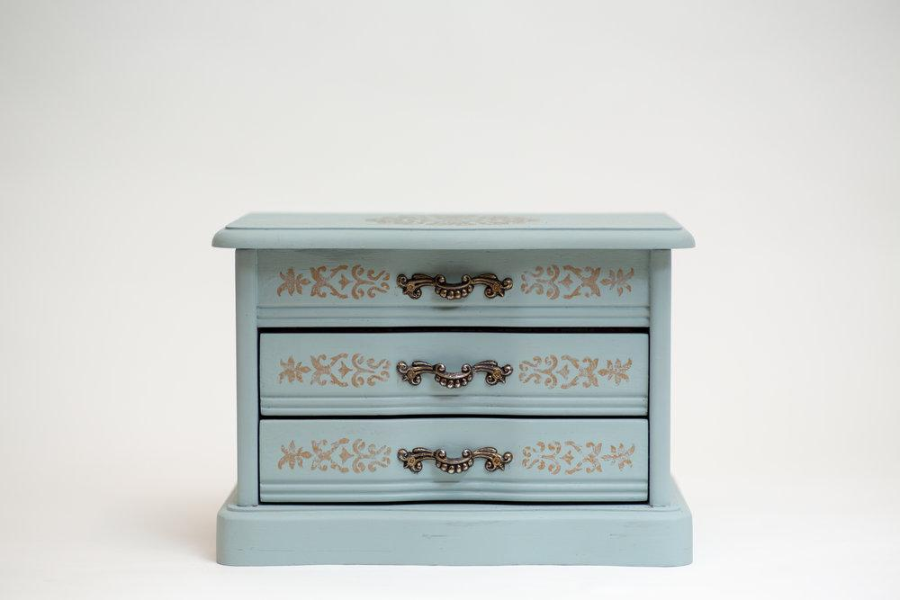 Crate and Barrel Box in Patina Blue