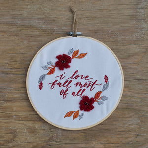 Autumn Hoop Wreath - Love Fall Most of All