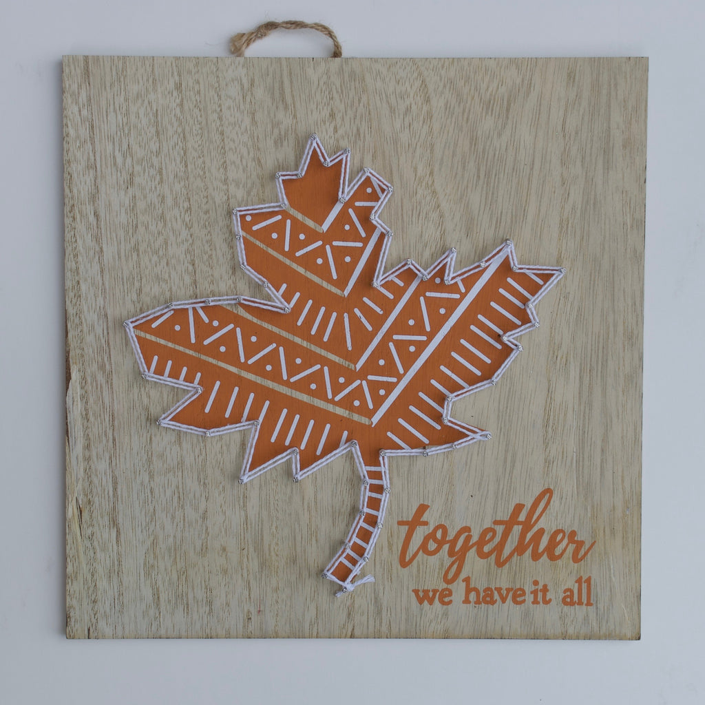 Autumn Wooden Wall Art - Together We Have it All