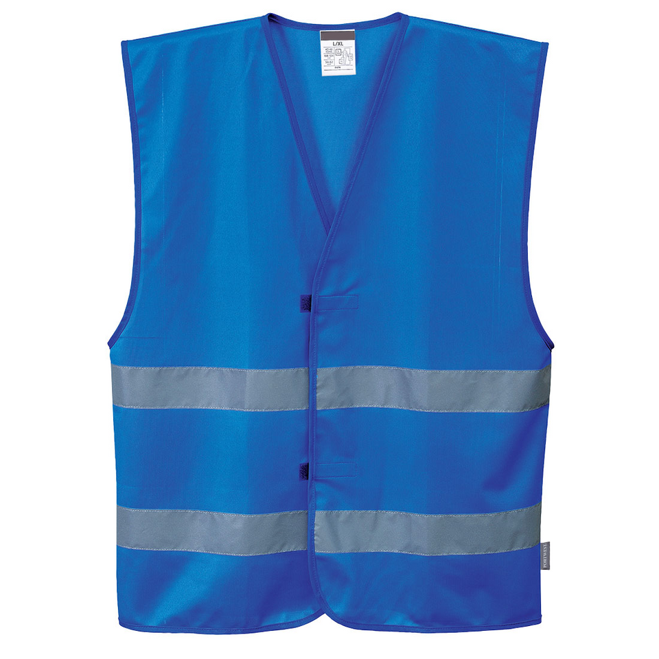 Royal Blue Safety Vest with high visibility reflective tape